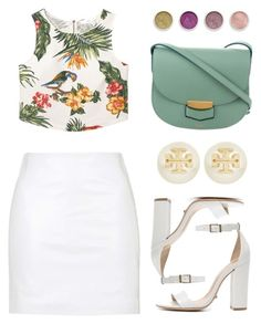 """OOTD - Tropical"" by by-jwp ❤ liked on Polyvore featuring Schutz, Topshop, MANGO, Tory Burch, Terre Mère, summerstyle, summeroutfit, summersandals and summer2016"