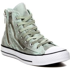Converse CT Dual Zip Hi Top Sneaker (Women) (€45) ❤ liked on Polyvore featuring shoes, sneakers, mint julep, converse high tops, converse shoes, lace up high top sneakers, hi tops and converse sneakers