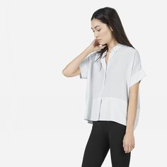 The Square Silk Shirt - Everlane
