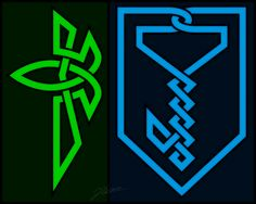 Enlightened and Resistance today! Conceptually I was thinking United Factions on this one. With that I went for a Celtic knot inspiration.  #ingress …  -  John Warren - Google+