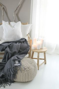 ♥ Decoration. Plaid. Pillows.