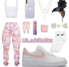 Cute Lazy Outfits, Baddie Outfits Casual, Swag Outfits For Girls, Teenage Girl Outfits, Cute Swag Outfits, Girls Fashion Clothes, Teenager Outfits, Teen Fashion Outfits, Retro Outfits