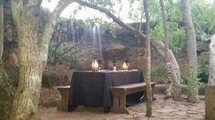 Romantic  set up  at Olienhout  at legend golf and safari resort