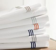 Sheet Sets, Pillow Cases, Bedding Sheets & Striped Sheets | Pottery Barn