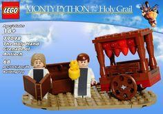The Holy Hand Grenade of Antioch. Monty Python and the Holy Grail Lego set.  How cool would it be if these were real?