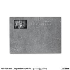 Personalized Corporate Gray Grungy Cement Post-it® Notes
