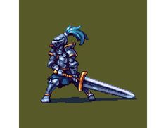 "Mou-Chan no Twitter: ""Knight #pixelart I created for @NibblesDragon https://t.co/PlYYRMYcCn"" ."