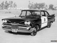 Vintage Dodge Police Car
