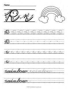 Free Printable Cursive Q Worksheet Cursive Letters Worksheet, Cursive Writing Practice Sheets, Teaching Cursive, Handwriting Practice Worksheets, Cursive Alphabet, Handwriting Analysis, Cursive Abcd, Kindergarten Handwriting, Writing