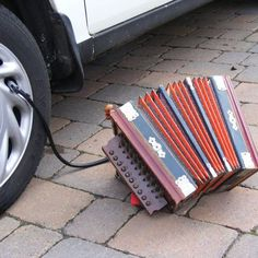 Now you can play a proper polka while you air your tires. Multitasking makes the world go round!