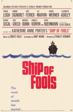 Ship Of Fools 1965 Film | the 1965 movie poster for Ship of Fools