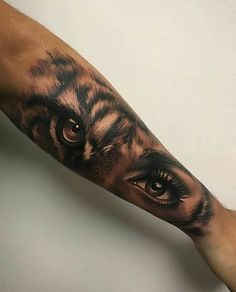 lion eyes tattoo Bengal Tiger is part of Best Lion Tiger Tattoo Images Wild Animals Big Cats - tiger eyes by Artis Garcia at Certified Customs in Denver, CO tattoos beautytatoos Tigeraugen Tattoo, Body Art Tattoos, Tatoos, Tattoo Forearm, Forearm Sleeve, Tattoo Quotes, Eye Tattoo On Arm, Wolf Eye Tattoo, Trendy Tattoos