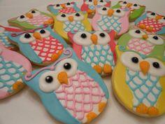 Owl Cookies1 Dozen by kjcookies on Etsy, $36.00