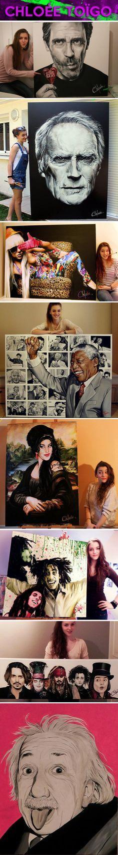 The amazing works of Chloée Toïgo…