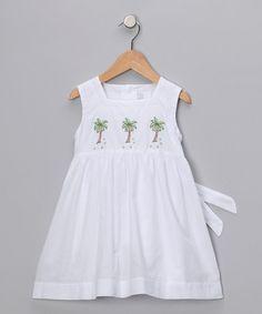 e3e989414 Fantaisie Kids White Palm Tree Dress - Toddler   Girls