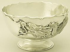 A fine and impressive antique Chinese Export silver bowl; an addition to our diverse dining silverware collection