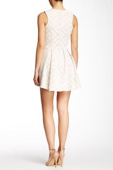 Want & Need Lace Overlay Skater Dress