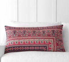 Isabella Kalimkari Lumbar Pillow Cover | Pottery Barn