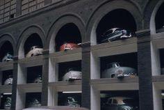 St Louis parking lot, 1953