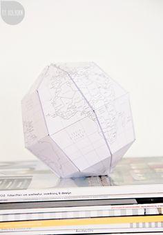 DIY // Geometric globe. Byholborn.