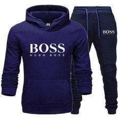 2020 new fashion men's sweatshirt casual printing hoodie two-piece full wool hoodie + jogging sports pants suit men and women # Tracksuit Set, Mens Suits, Suit Men, Cheap Hoodies, Sport Pants, Mens Sweatshirts, Sweater Hoodie, Mens Fashion, Casual