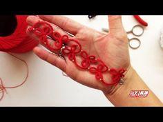 Chiacchierino Ad Ago - 17˚ Lezione Bracciale O Collarino Con Perline - Tutorial Come Fare Tatting Needle Tatting, Tatting Lace, Needle Lace, Diy Embroidery Patterns, Tatting Patterns, Crochet Patterns, Tatting Tutorial, Macrame Tutorial, Crochet Doilies
