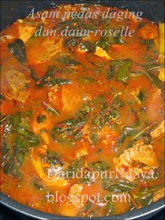 Dari Dapur NaSya: Asam pedas daging daun roselle