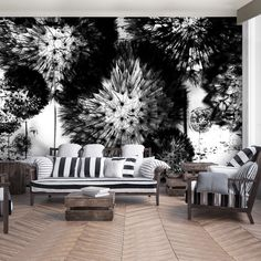 Pinterest  High Quality Wallpaper Printing.  PAPER VLIES (non vowen) VINYL  SELF ADHESIVE (peel  stick) LAMINATED Black And White Interior, White Interior Design, Black And White Wallpaper, Dandelion Wallpaper, White Dandelion, High Quality Wallpapers, Outdoor Furniture Sets, Outdoor Decor, Adhesive