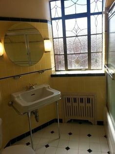Beautiful art deco bathroom, St.Louis (also currently for sale, I took this at an open house, beautiful condo, 63109 zip code I believe).