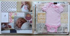 baby project life - include the coming home outfit in a 12x12 sheet protector. held in place with a binder clip.