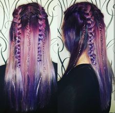 Pink and Purple colour melt by Ashlee C