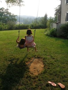 Every child's home should have a well-loved, well- used swing.