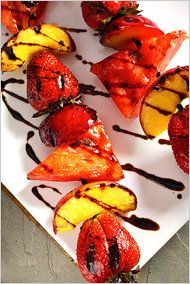 Grilled fruit...yum!