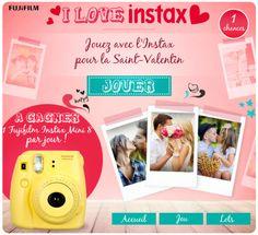 atnetplanet à l'occasion de la St-Valentin met en ligne pour Fujifilm Instax France une application facebook qui vous offre chaque jour un Instax mini 8 ! Un dispositif simple et efficace accessible depuis tous les devices PC/Mac, tablette et même les smartphones !  http://apps.facebook.com/iloveinstax