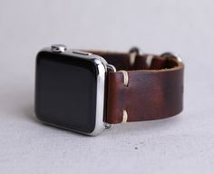 Apple Watch banda: Correa de cuero Horween en Color por choicecuts