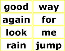 free printable sight words list for 1st grade students, word wall words flash cards