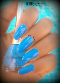 Style Those Nails: Swimming pool Nails - Golden Rose Paris Nail Lacqu...