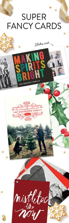 Super fancy Christmas cards you'll love this year. Treat yourself! #holiday