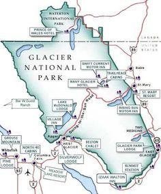 Glacier National Park Map More
