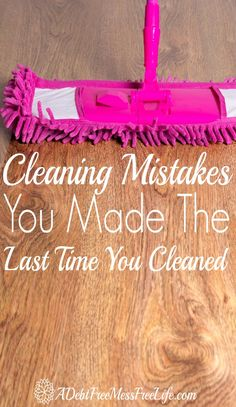 Do you know how to clean without making these cleaning mistakes? These AWESOME tips and cleaning hacks will have you SAVING TIME, and MONEY because you'll be cleaning your home the right way! BRILLIANT!