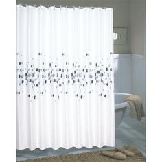 Carnation Home Fashions Dots Shower Curtain