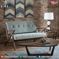 Sofa Minimalis 3 Seater Retro Classic Extraordinary Cheap Price MMJ-0792 Blue Dining Room Chairs, Industrial Dining Chairs, Used Chairs, Online Furniture Stores, Home Office Decor, Home Decor, Stackable Chairs, Vintage Chairs, Mid Century Design
