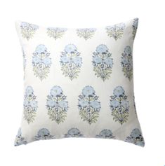 This pillow cover is a light blue/green. Made in USA. off-white heavy weight linen back. Recommend sizing up for a square and same size for a lumbar: Decorative Pillow Insert Green Pillow Covers, Green Pillows, 20x20 Pillow Covers, Throw Pillows, Hand Printed Fabric, Printing On Fabric, Handmade Pillows, Decorative Pillows, Toddler Girl Bedding Sets