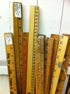 old yardsticks and rulers
