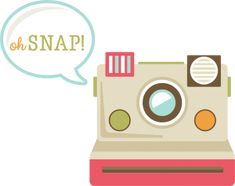 Oh Snap! SVG cut file for scrapbooking camera svg file polaroid camera svg file free svgs