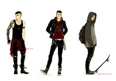 Tumblr. Some outfit studies for my oc Emmet. You'll see me…