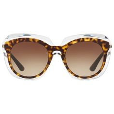 Dolce & Gabbana Contrast Round Sunglasses