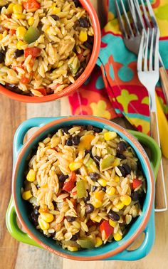 One-Pot Tex-Mex Orzo - from one of my fave food bloggers @Julie {Table for Two}!