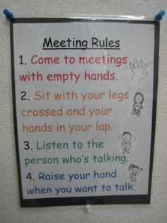 morning meeting rules - Google Search
