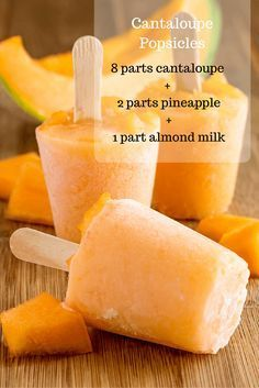 Homemade Cantaloupe Popsicles